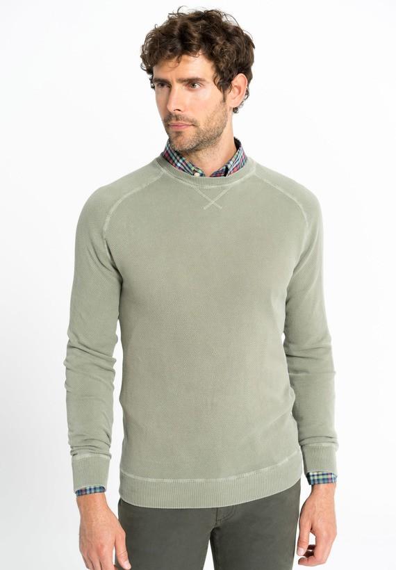 Jersey con cuello caja