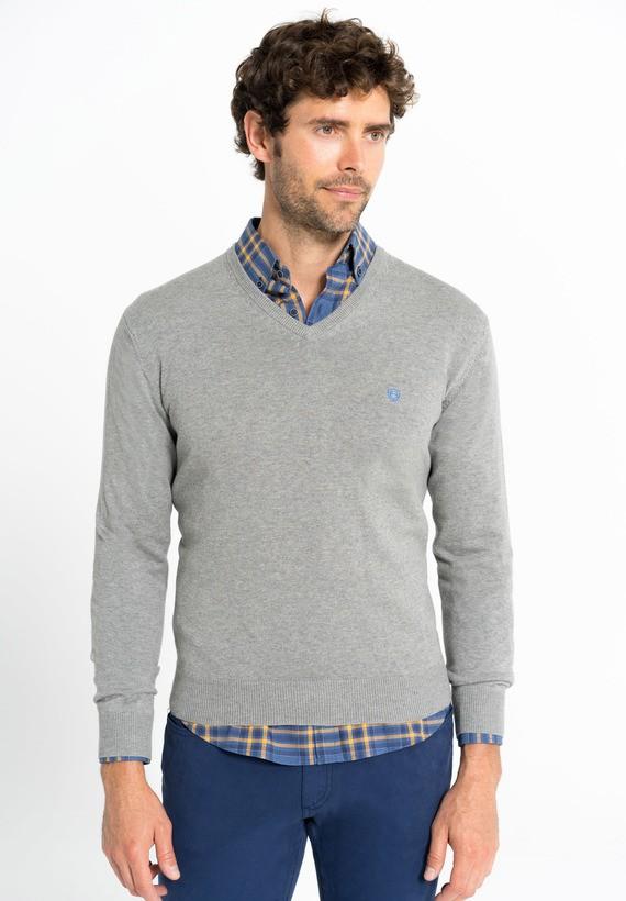 Jersey básico cuello pico