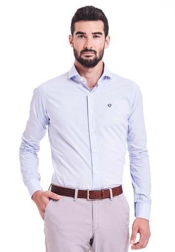 Camisa vestir estampada slim