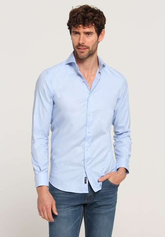 Camisa slim fit pata de gallo