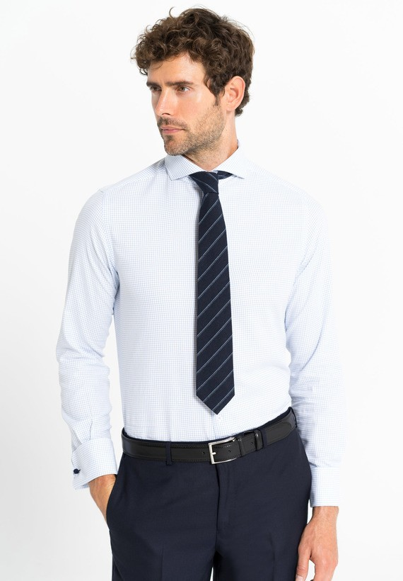 Camisa vestir microcuadros