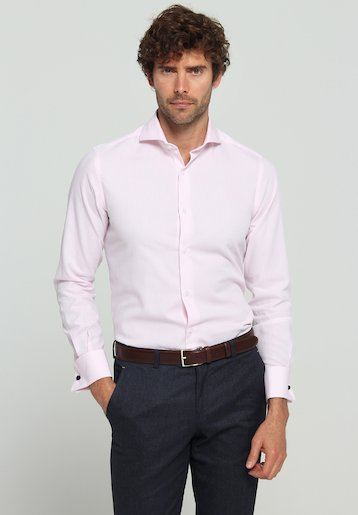 Camisa vestir falso liso regular