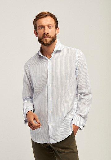 Camisa regular vestir rayas