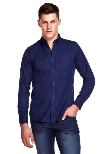 Camisa jacquard cálida