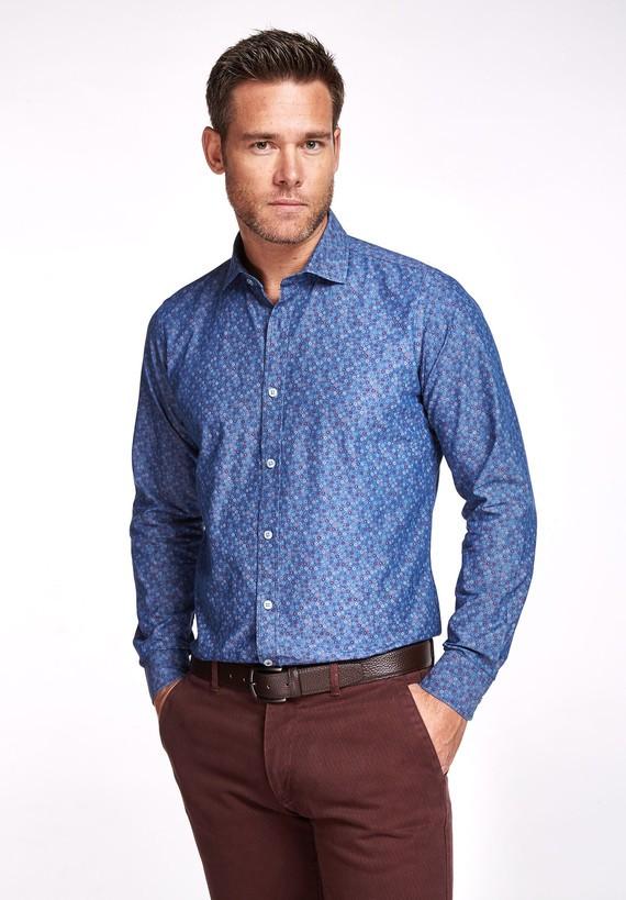 Camisa tejana floral slim