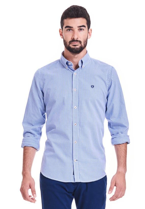 Camisa vichy sport slim - Azul
