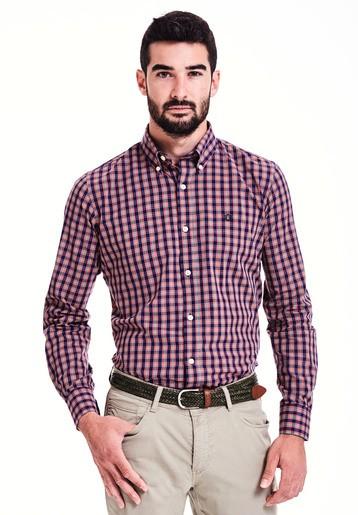 Camisa cuadros slim