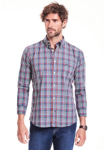Camisa regular de cuadros