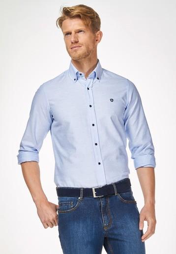 Camisa oxford fantasía slim