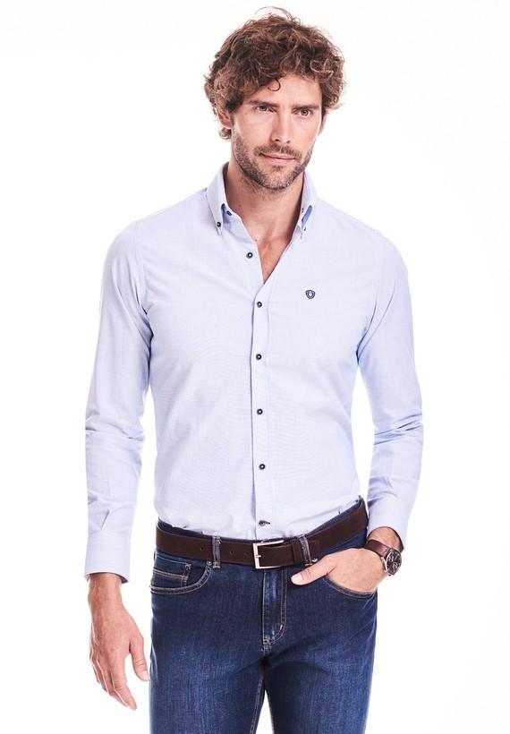 Camisa regular de mil rayas