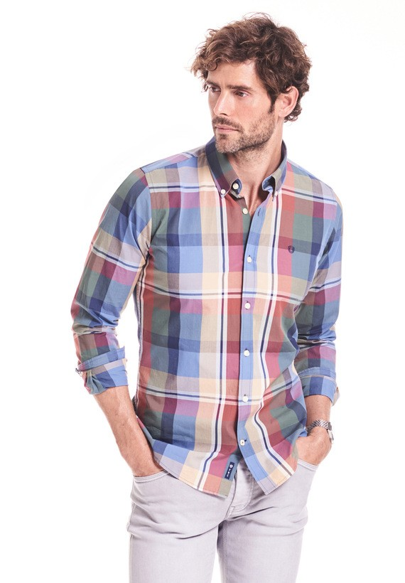 Camisa regular de rayas
