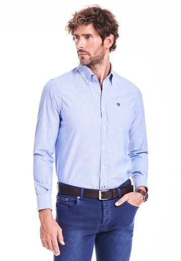 Camisa regular de rayas