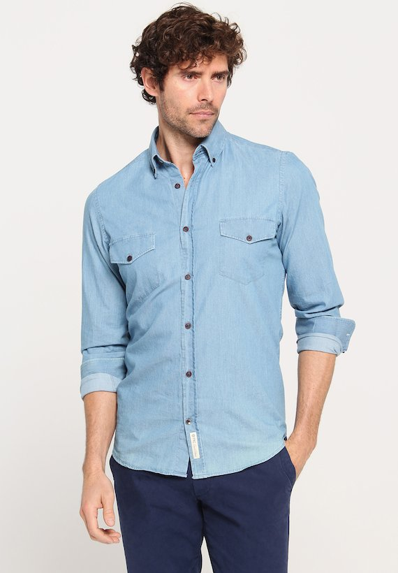 Camisa denim regular