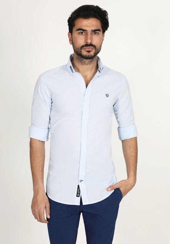 Camisa slim fit de cuadros oxford