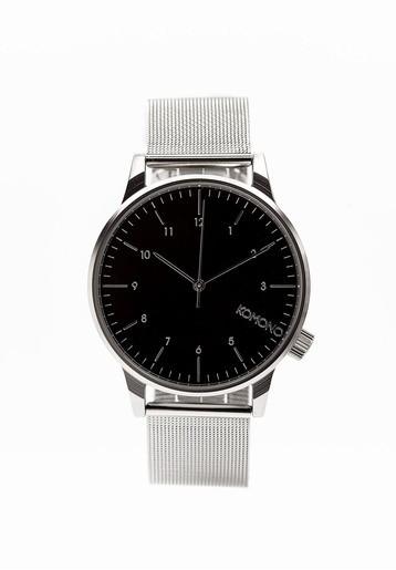 Reloj acero esfera negra