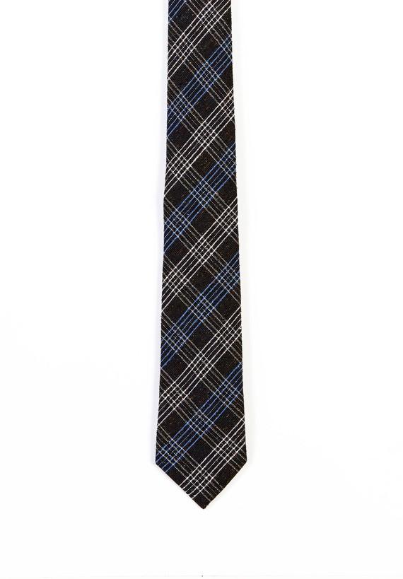 Corbata cuadros camiseros bicolor.
