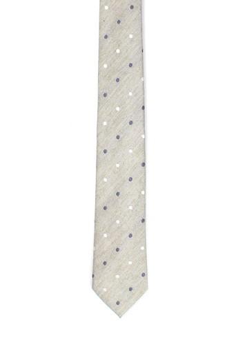 Corbata de seda y lino lunares