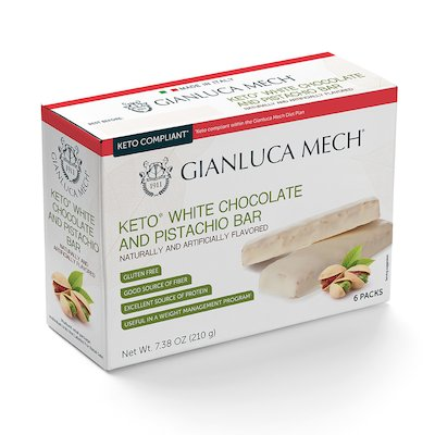 KETO WHITE CHOCOLATE AND PISTACHIO BAR
