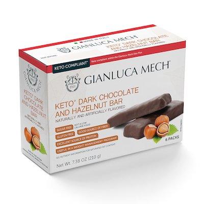 BARRITA DE CHOCOLATE NEGRO Y AVELLANAS KETO