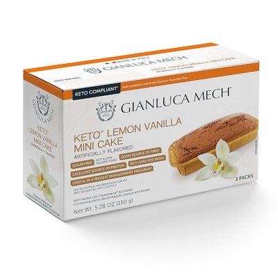 KETO LEMON VANILLA MINI CAKE