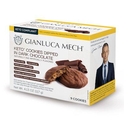 KETO COOKIES DIPPED IN DARK CHOCOLATE