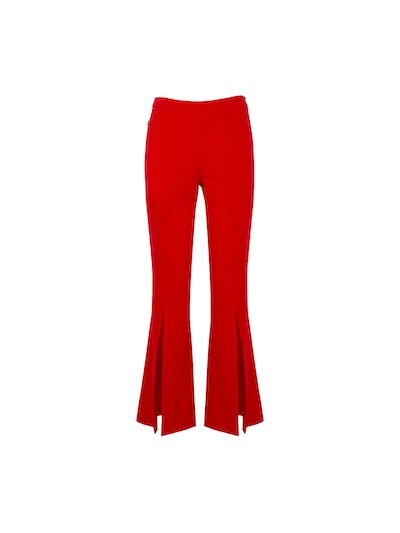 Flare trousers with slits
