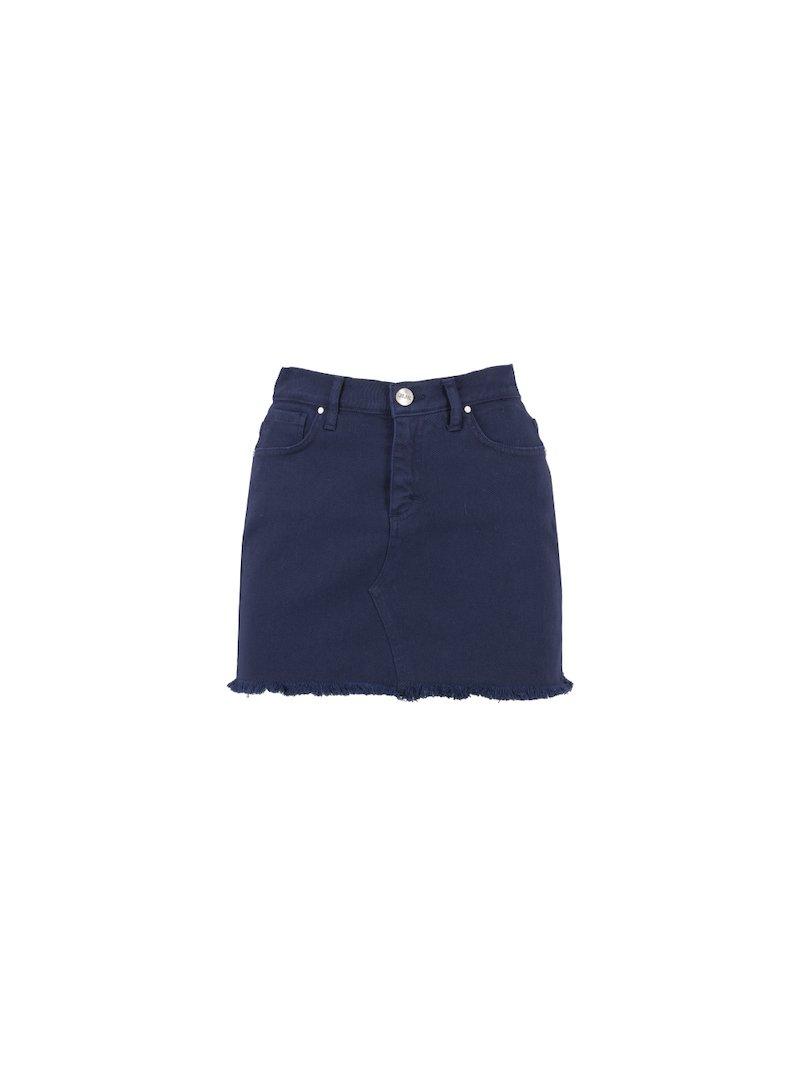 Blue denim miniskirt