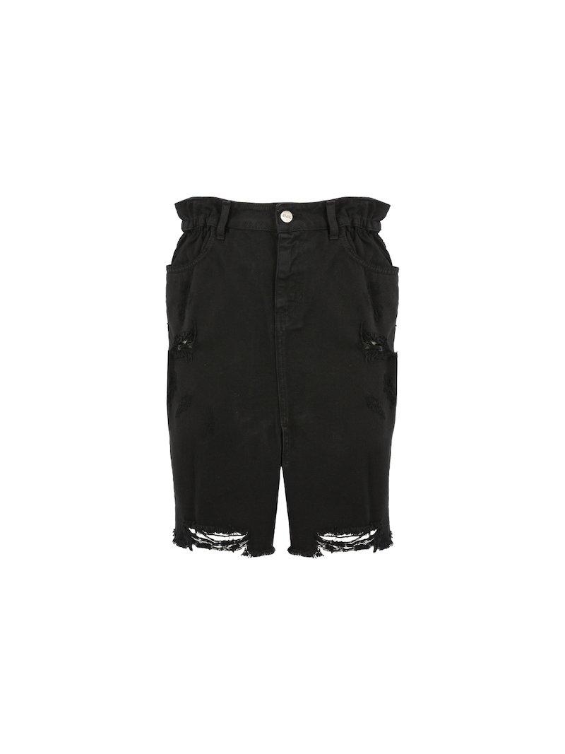 Denim skirt used effect
