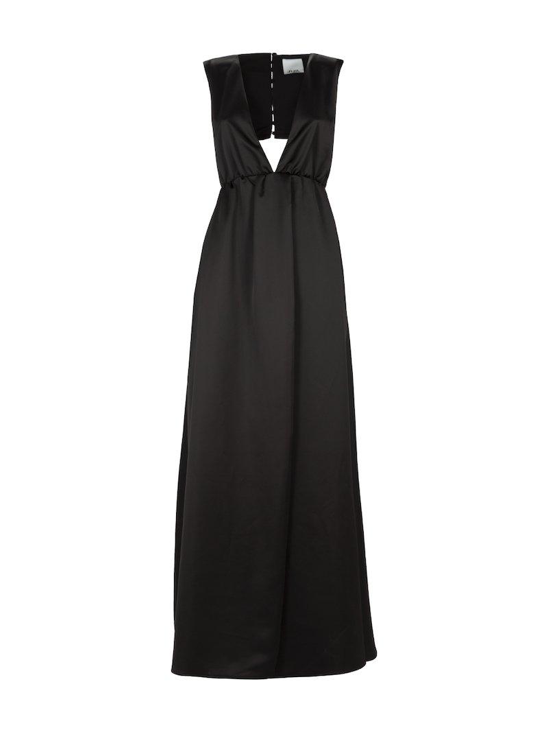Long dress with deep neckline