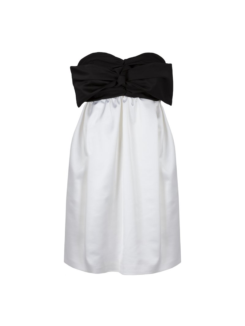 Two-toned dress with maxi-bow