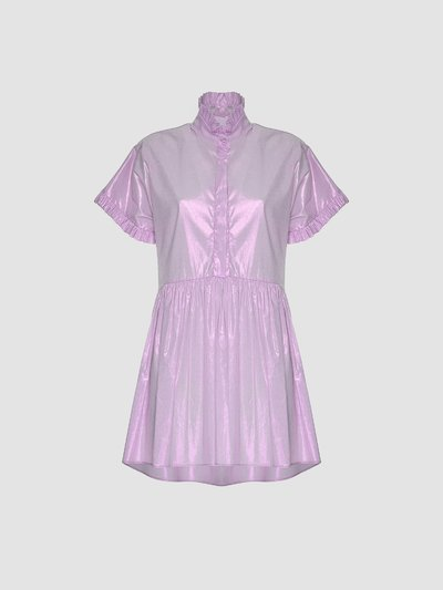 Poplin plated dress
