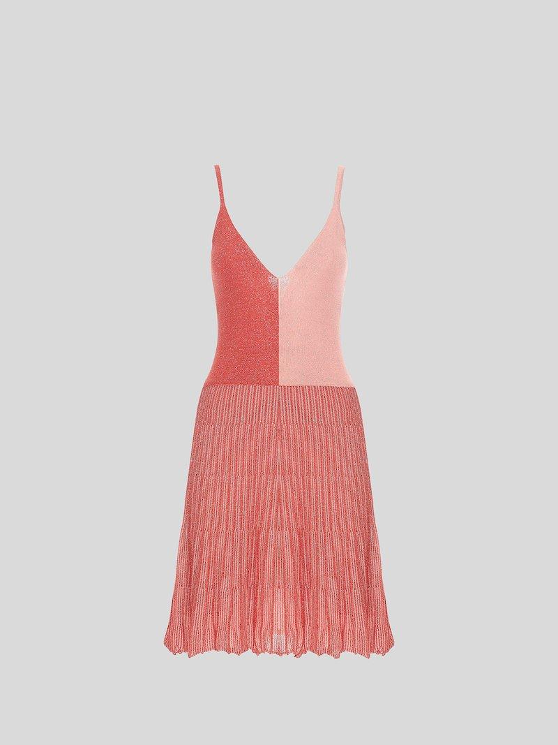 The knit bicolor lurex effect dress