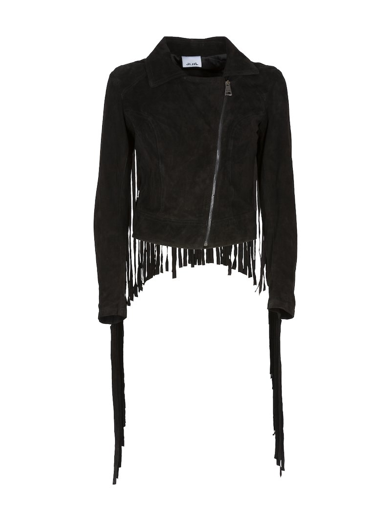 Suede jacket with fringes