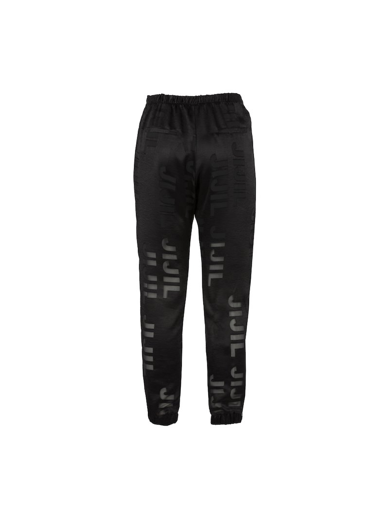 Satin joggers trousers with logo