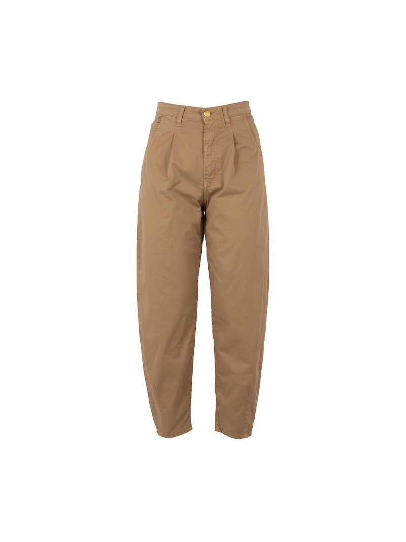 High rise pleated trousers