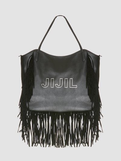 Bag with Jijil logo with fringes