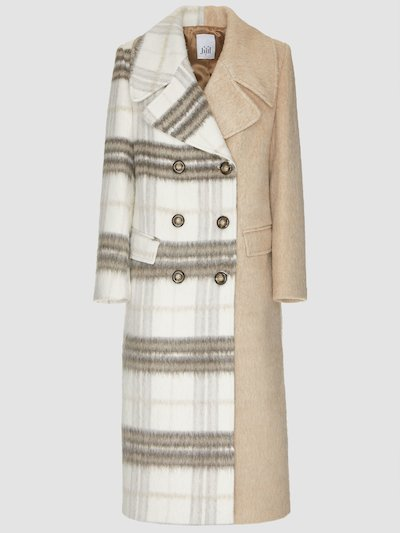 Cappotto panna fantasia check
