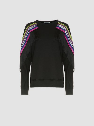 Sweatshirt with fringe detail