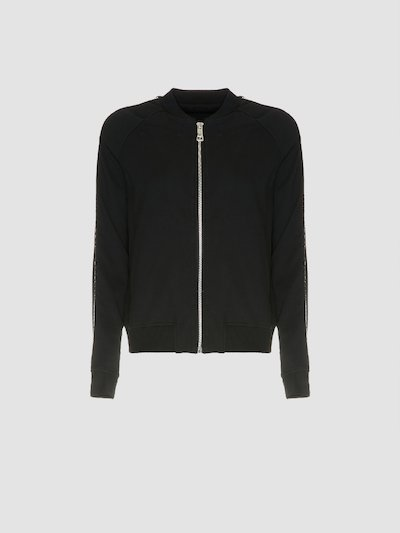 Sweatshirt with zip closure