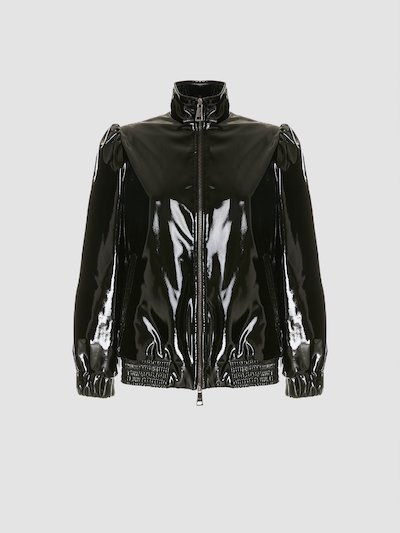 Jacket in shiny fabric
