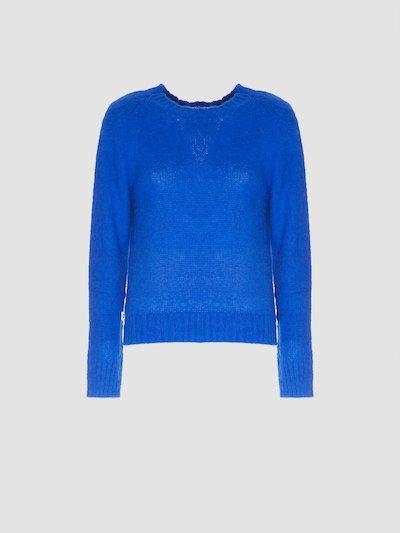 Long-sleeved pullover bluette