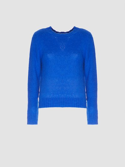 Pullover bluette a manica lunga