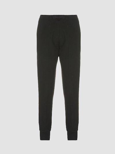 Long elastic trousers