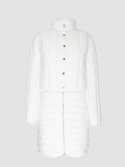 Quilt white quilted jacket