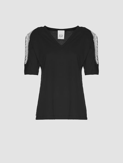 T-shirt con spallotti laterali