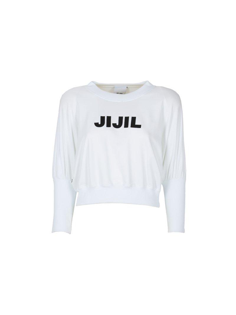 Raglan long sleeved sweatshirt with contrasting logo