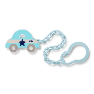 Nuk Soother Chain - Grey Car