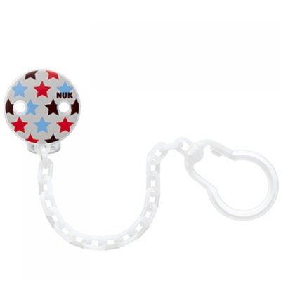 Nuk Soother Chain - White Star