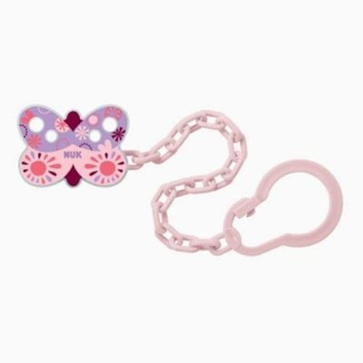 Nuk Soother Chain - Pink/Purple Butterfly