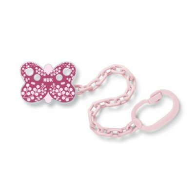 Nuk Soother Chain - Pink Butterfly